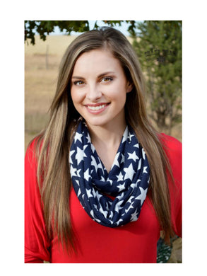 (Set of 2) Crazy Train Womens Star Spangled + Paisley Infinity Scarf