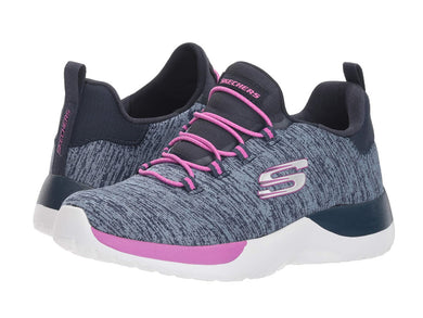 Skechers Girls Size 12 Dynamight Break Through Sneakers, Navy/Multi