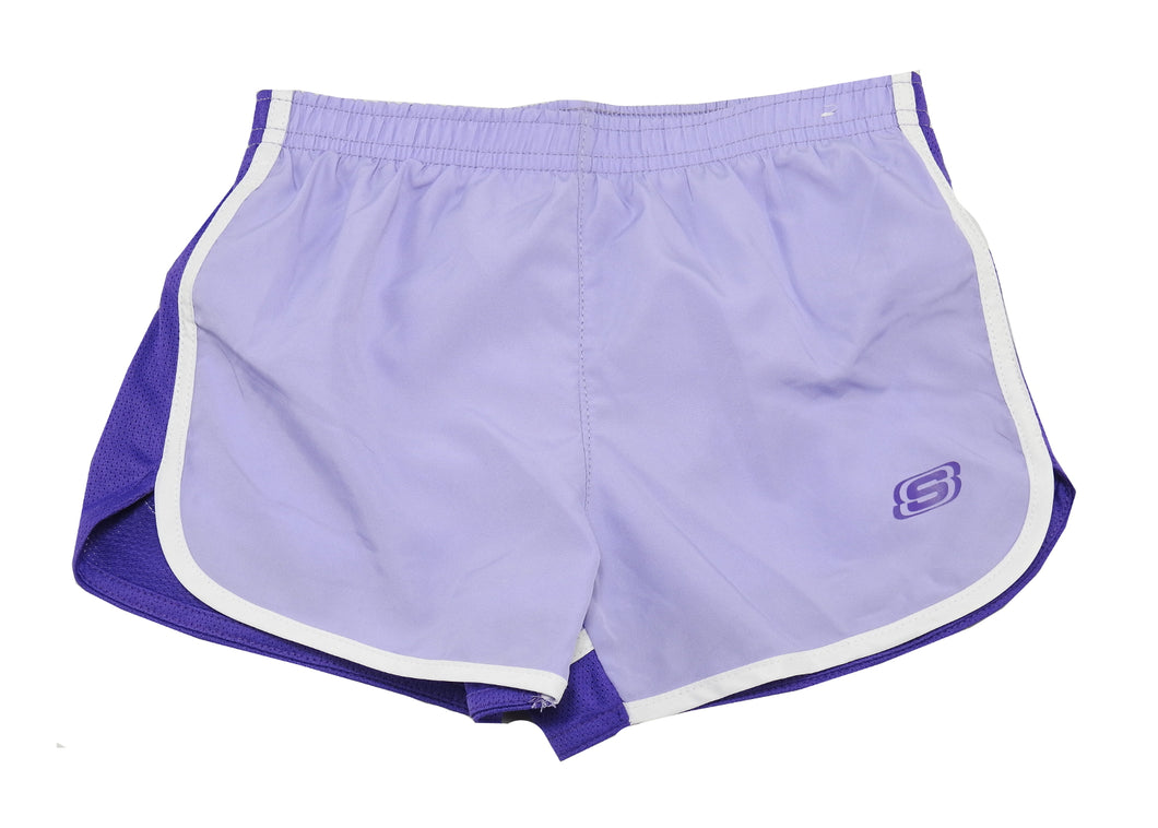 Skechers Active Girls Size 7/8 Shorts, Lavender/Electric Purple/White