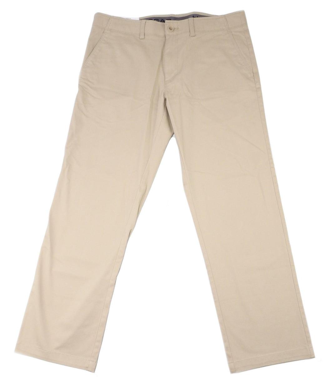 Haggar Clothing Men's Size 36 x 30 Straight Fit Sustainable Stretch Chino Pant, Khaki