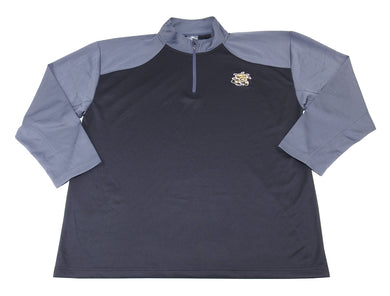 Knights Apparel Mens Size 2X-Large L/S Wichita State 1/4 Zip Pullover, Black/Gry