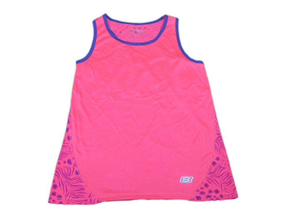 Skechers Active Girls Size 4 Mesh Racerback Athletic Shirt, Flamingo Pink