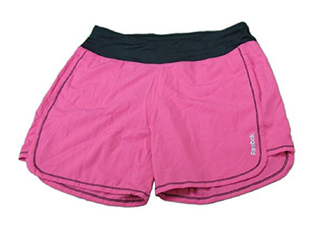 Reebok Women's Size X-Large Woven Performance Shorts, Pink/Black