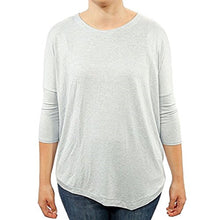 Philosophy Womens Asymmetrical Top, Crystal Blue Heather