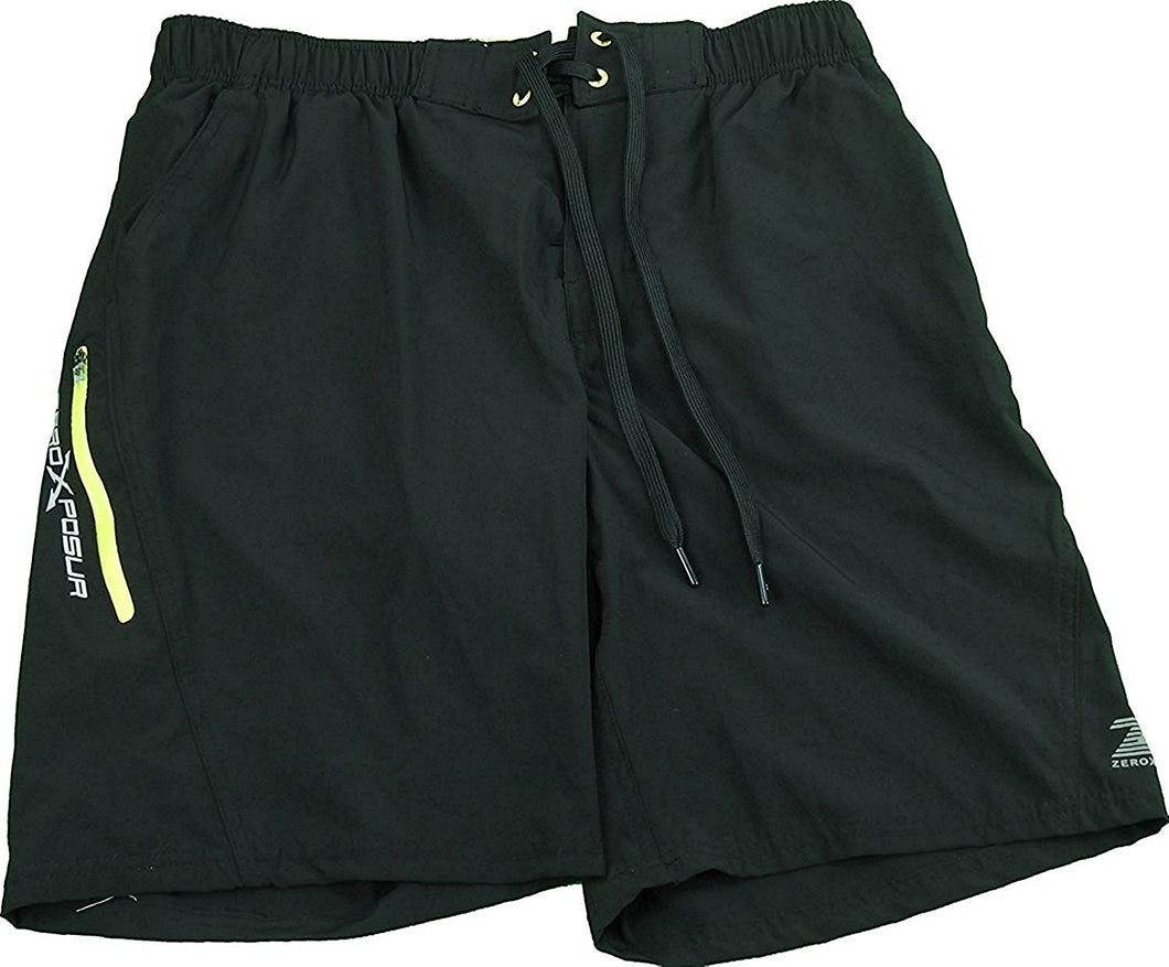 ZeroXposur Men's Size Small Board Shorts/Swim Trunks, Black Carbon
