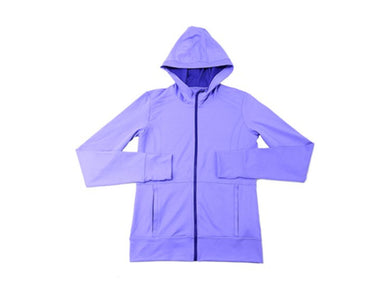 Kirkland Signature Girls Size X-Large (16) Full Zip Hooded Jacket, Purple