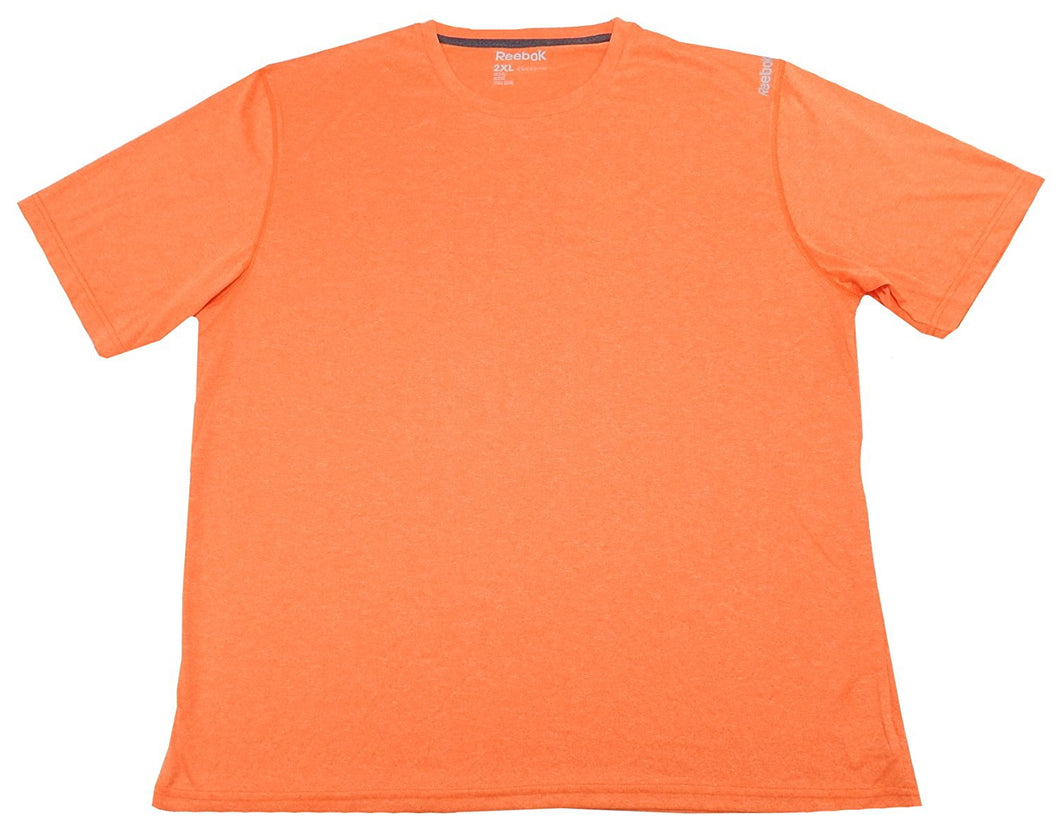 Reebok Mens Size 2X-Large Short Sleeve Regular Fit Sport Shirt, Orange