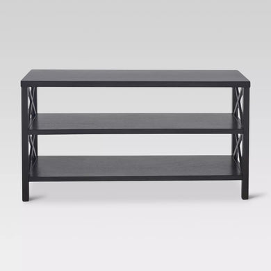 Threshold Owings Console Table with 2 Shelves - Espresso Coffee