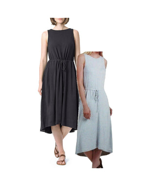(2-Pack) The Limited Women's XX-Large Modal French Terry Midi Dress w/Hi Low Hem