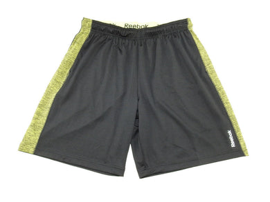 Reebok Mens Regular-Fit Reflective Logo Active Stretch Sport Shorts w/Pockets
