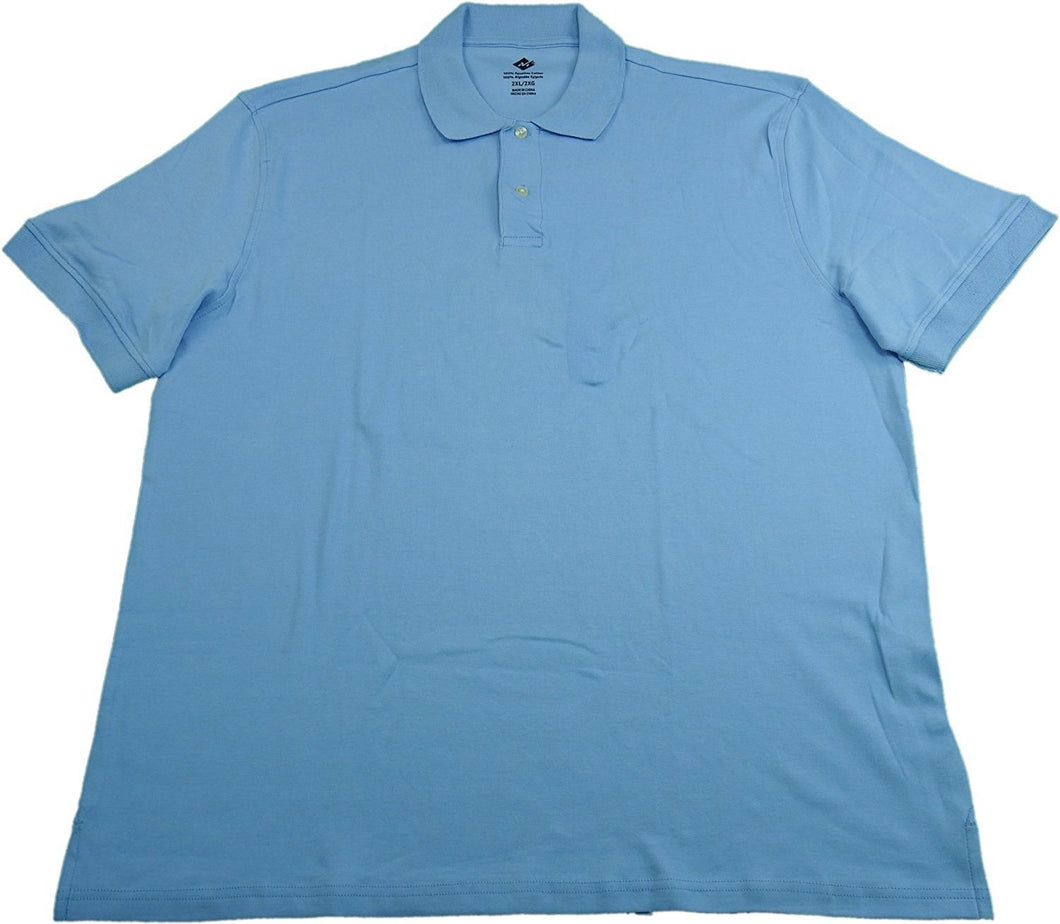 Members Mark Mens Soft Luxurious Touch Classic Fit Polo Shirt, Light Blue