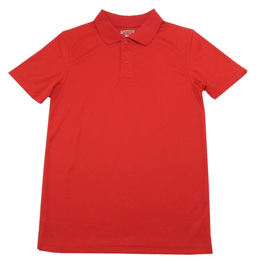 Arrow Boys Approved Schoolwear Short Sleeve Moisture Wicking Polo Shirt, Red