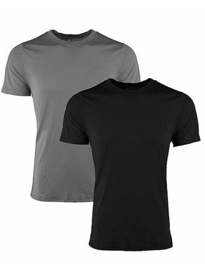 Reebok Mens Short Sleeve Active Performance Training Wicking Crew Tees, 2-Pack