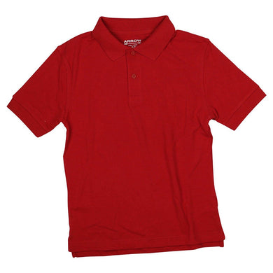 Arrow Boys Size Large (12/14) Approved Schoolwear Short Sleeve Polo Shirt, Red