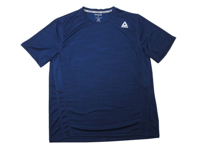 Reebok Mens Size Large Regular-Fit Breathable Speedwick Active Shirt, Dark Blue