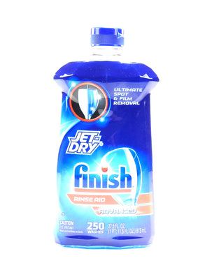(4-Pack) Jet-Dry Finish Rinse Aid, Dishwasher Rinse Agent & Drying Agent 27.5oz.