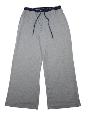 Greg Norman Mens X-Large Lounge Pants w/Drawstring + Front Pockets, Grey/Navy