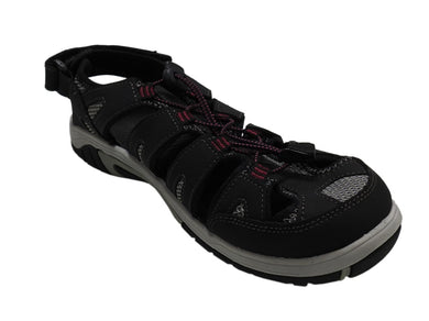 Eddie Bauer Womens Size 10M Blakely Bump Toe Sandals, Black