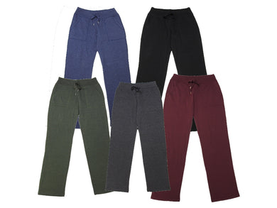 (5-Pack) Eddie Bauer Womens Fleece Drawstring Waist Pants, Assorted Colors