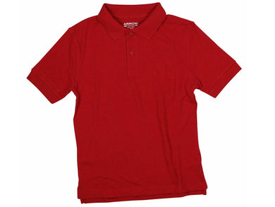 Arrow Boys Size X-Large (16) Short Sleeve Approved Schoolwear Polo Shirt, Red