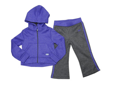 Skechers Active Baby Girls Size 18 Months Hoodie/Sweatpants 2-Pc Set, Purple Htr
