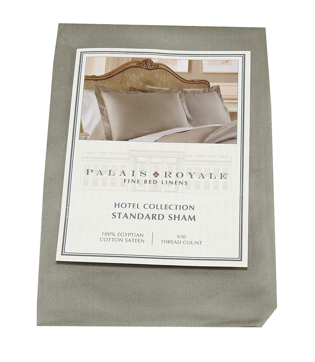 Palais Royale 100%-Egyptian Cotton Sateen (630 ct.) 1-Standard Sham, Stone