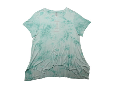 Active Life Womens Size Large Sharkbite Tunic Top, Teal Tie Dye