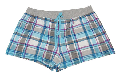 Kenneth Cole Reaction Womens Size Large Plaid Sleep Short, Multi
