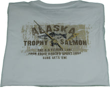 "Eddie Bauer Mens ""Alaska Trophy Salmon"" Graphic T-Shirt,  Artic White Alaska"