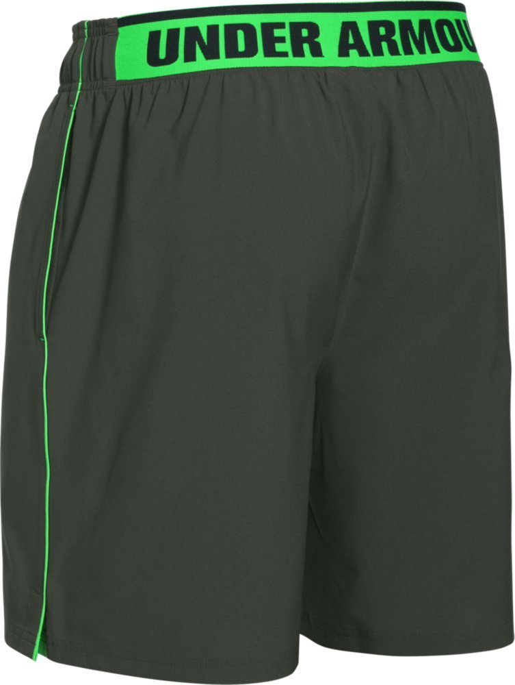 Under Armour Mens Size Large HeatGear Mirage 8 Inch Running Shorts, Green
