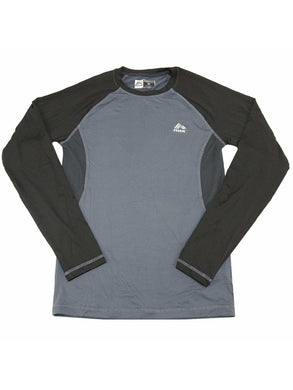 RBX Mens Size Small Long Sleeve Active Performance Compression Shirt, Black/Grey