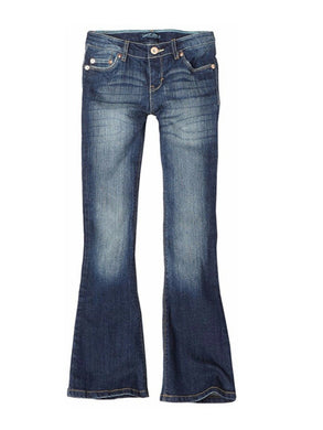 Levis Girls Regular-Fit Stretch Denim 5-Pocket Skinny Flare Jeans, Electric Sky