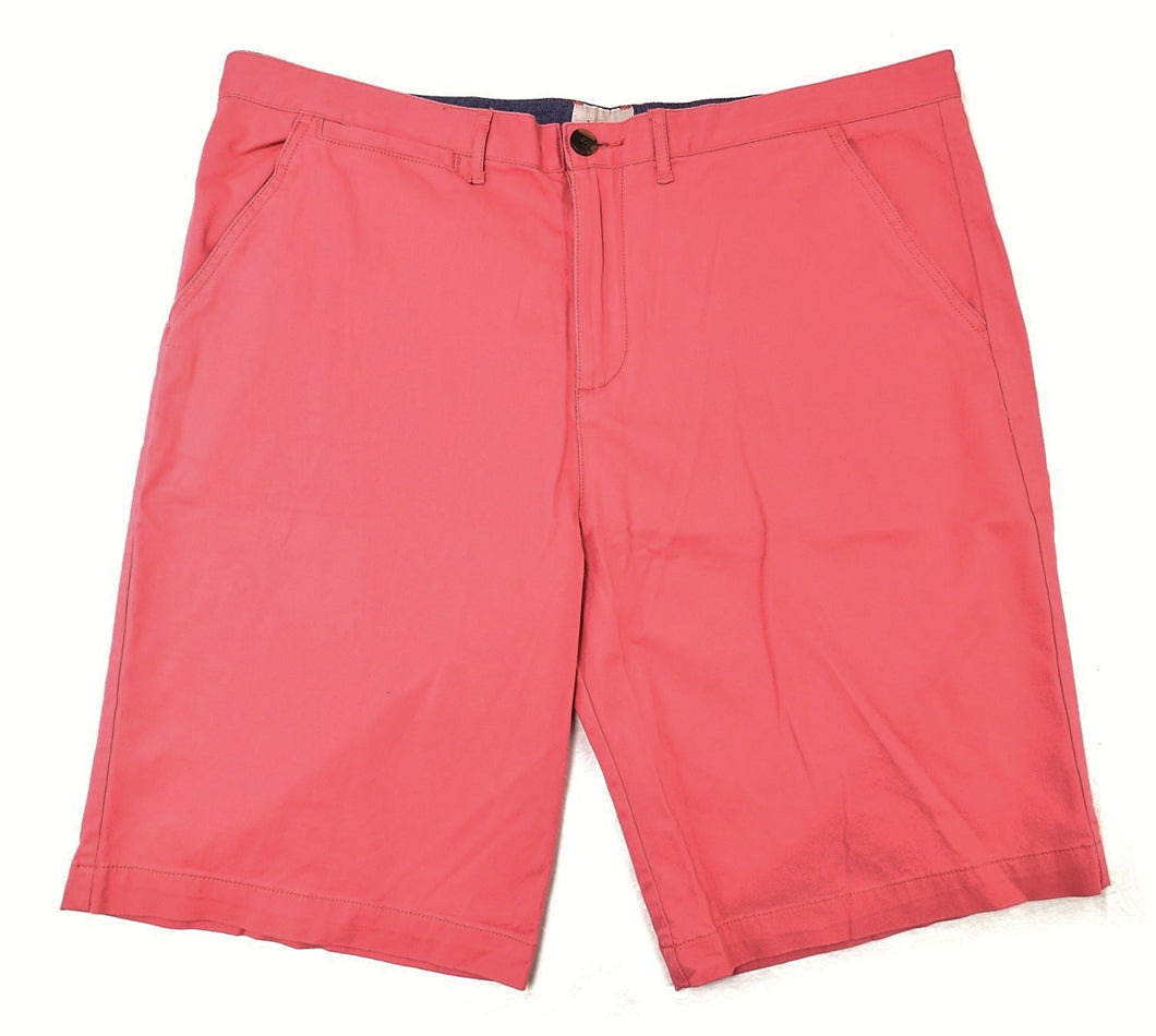 J.A.C.H.S Mens Size 36 Flat Front Shorts, Jetty Red