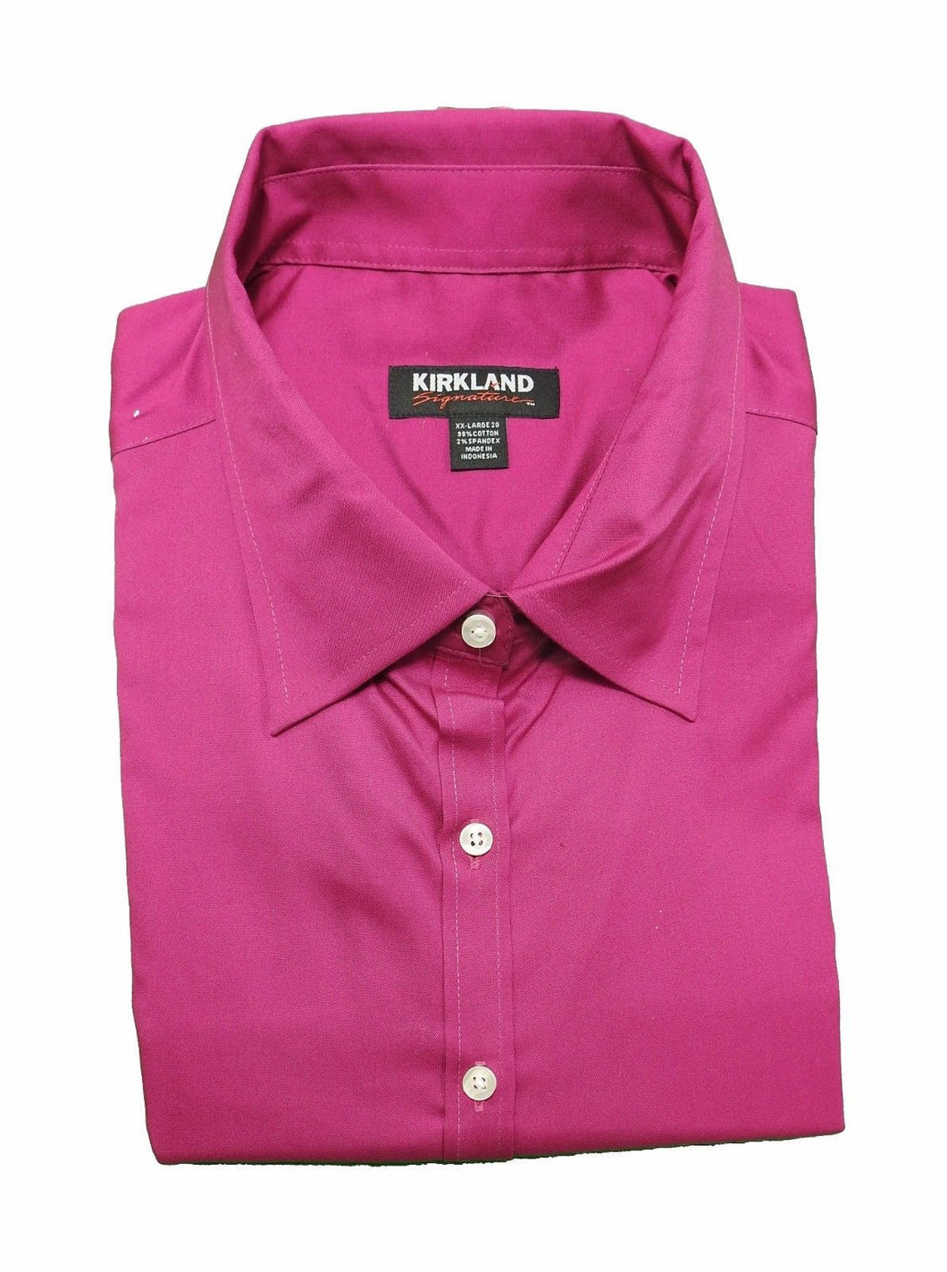 Kirkland Signature Ladies Size XX-Large (20) 3/4 Sleeve Stretch Oxford Shirt