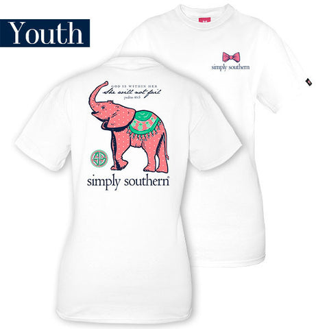 Simply Southern Baby Elephant Youth Tee