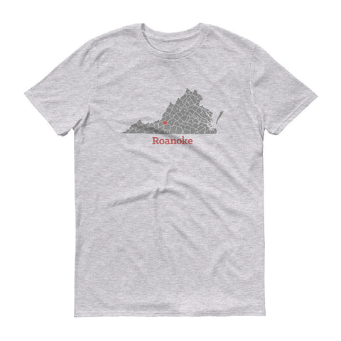 Roanoke Map Mens Short sleeve t-shirt