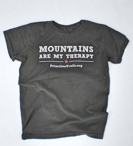 Primitive Trails Mountains Are My Therapy Mens Shirt