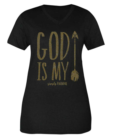 Simply Faithful God Is My Arrow Tee