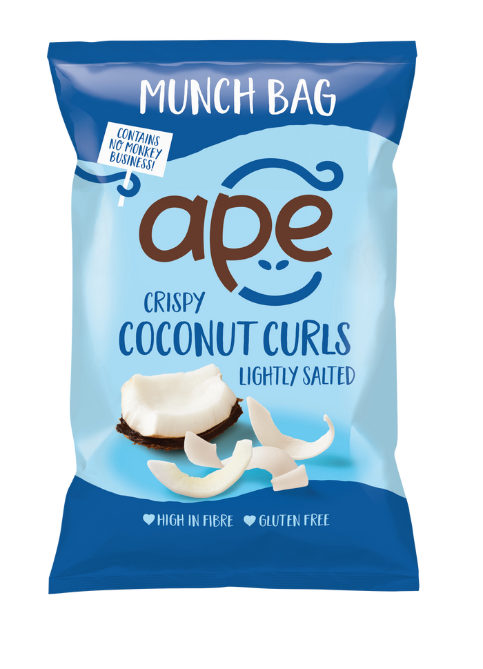 Crispy Coconut Curls Lightly Salted Munch Bag (60g)