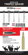 .300 Cal Remington Ultra Magnum 180gr Trophy Grade AccuBond Ammunition