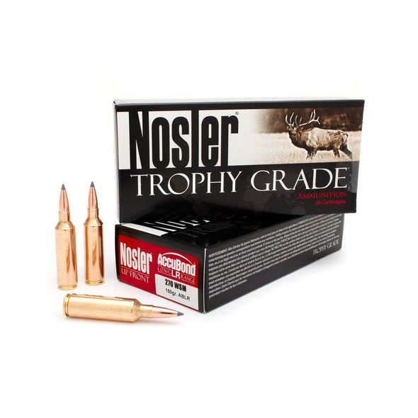 Nosler- Trophy Grade Accubond Ammunition 270 Winchester Short Magnum (WSM) 150 Grain AccuBond Long Range Box of 20