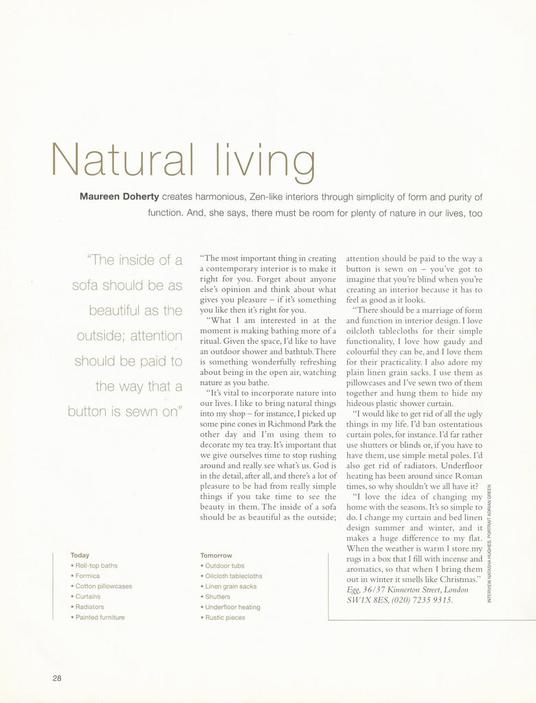 Homes and Garden,Trends 2003
