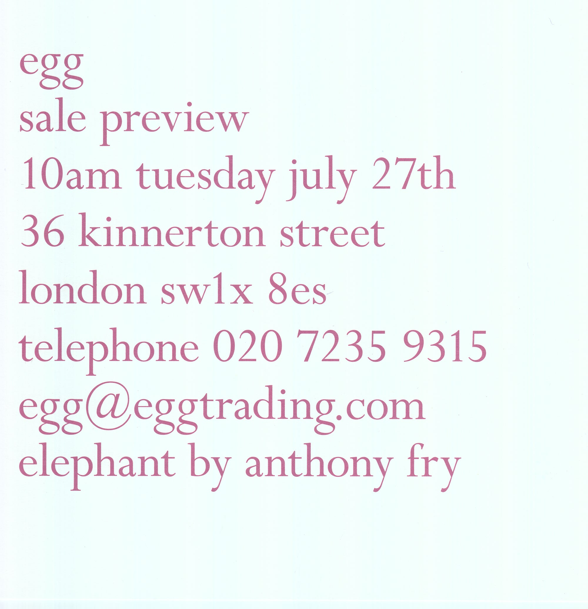egg summer sale July 2010
