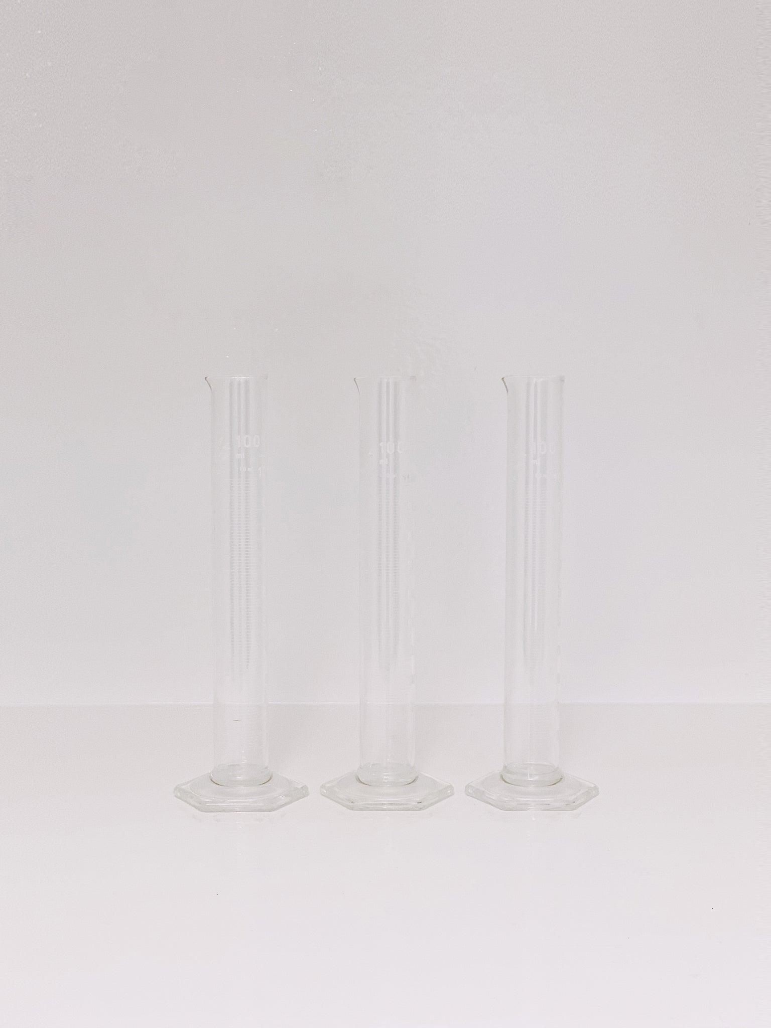 set of 3 graduated cylinders