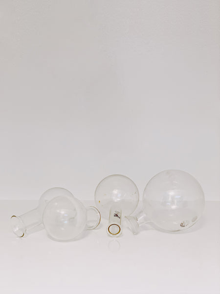 set of 4 erlenmeyer bulbs or florence flask