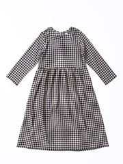 gingham wool dress