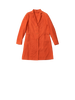 long orange coat