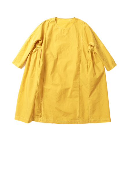 yellow rouche dress