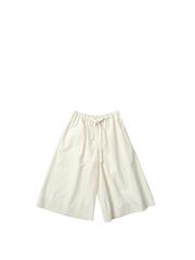 cream trousers with drawstring waist