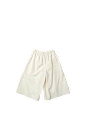 ivory baggy trousers with drawstring waist